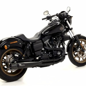 Harley Davidson® Dyna Low Ride with black Mohican Exhaust and carbon end cap